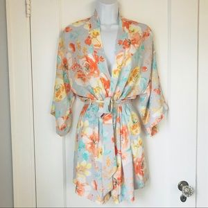 Coveted Clothing Poppy Belted Kimono Robe